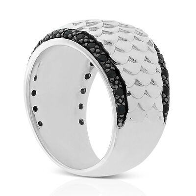 Lisa Bridge Black Sapphire Fish Scale Ring