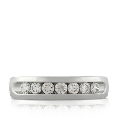 Men's Diamond Wedding Band 14K, 3/4 ctw.