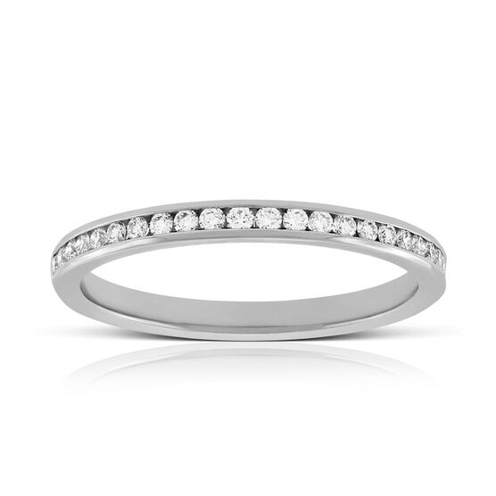Channel Set Diamond Ring in Platinum, 1/4 ctw.