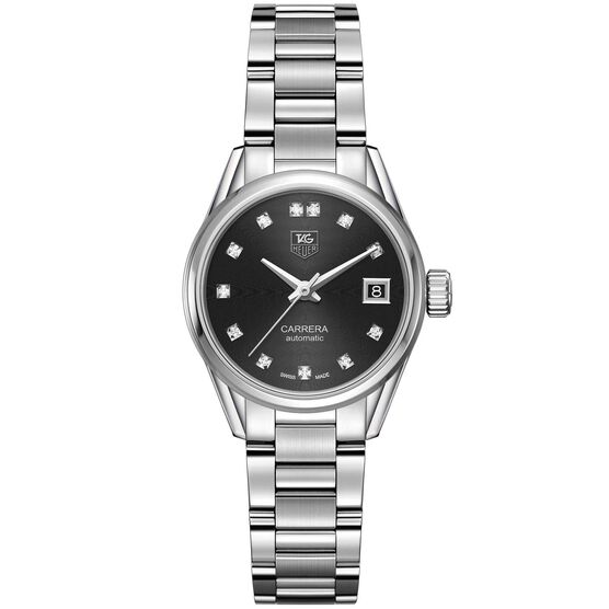 TAG Heuer Carrera Calibre 9 Automatic Ladies Black Steel Watch