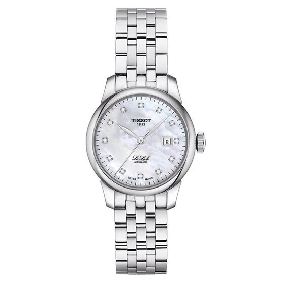 Tissot Le Locle Automatic Diamond Mother Of Pearl Watch, 29mm