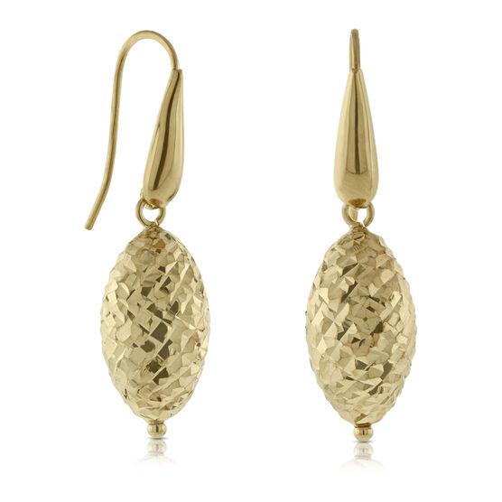 Teardrop Bead Earrings 14K