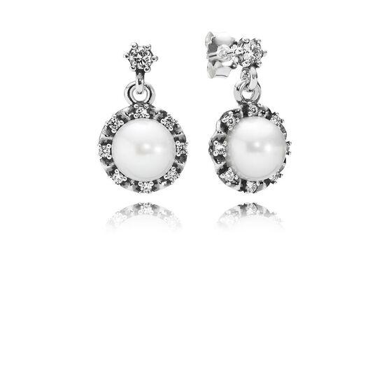 PANDORA Everlasting Grace Pearl & CZ Earrings