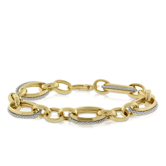 Toscano Link Bracelet 14K
