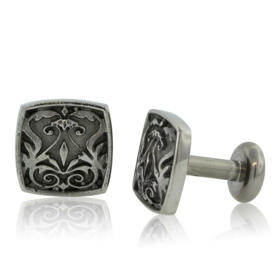 Men's Cuff Links in Titanium