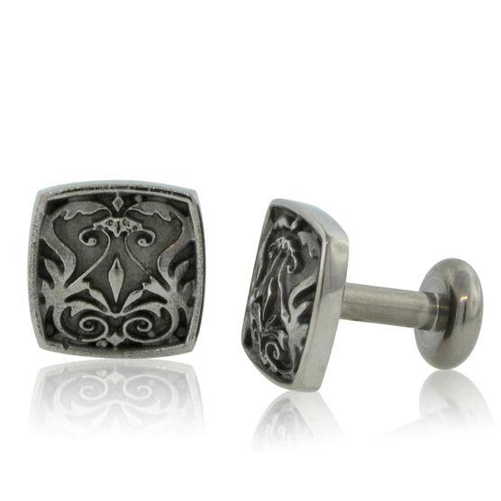 Men's Cuff Links in Titanium