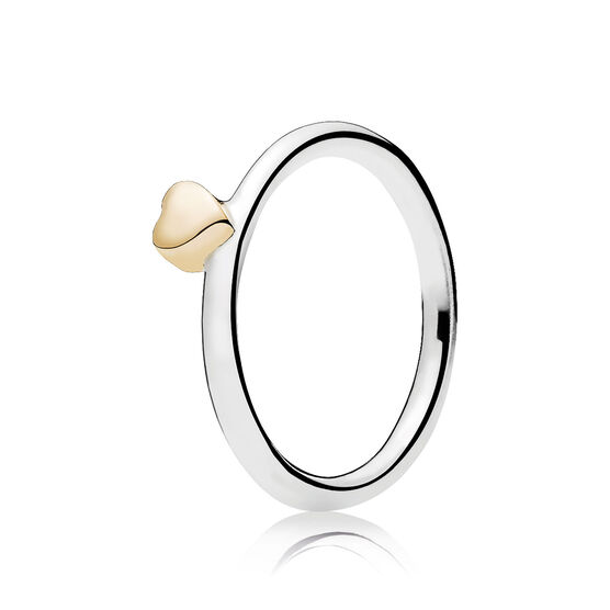 Pandora Puzzle Heart Ring, Silver & 14K