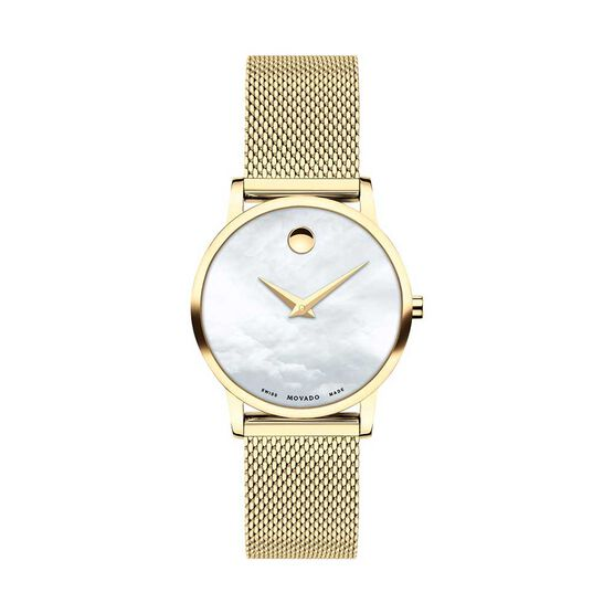 Movado Museum Classic Yellow Ion & Mother of Pearl Dial Watch