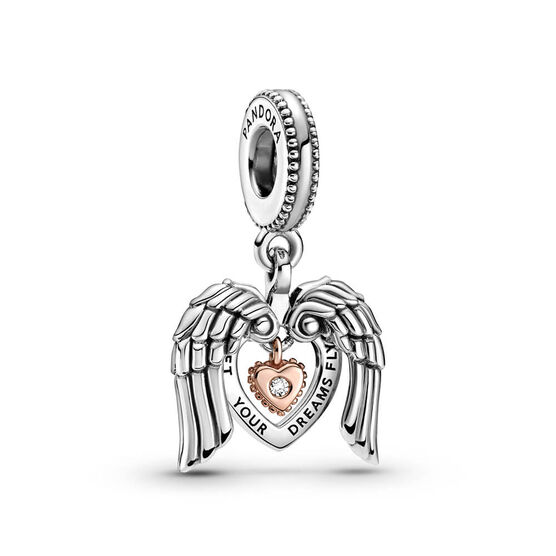 Pandora Rose™ Club 2021 Angel Wings & Heart Diamond Dangle Charm