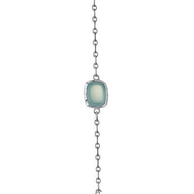 Lisa Bridge Chalcedony & Blue Lace Agate Station Necklace