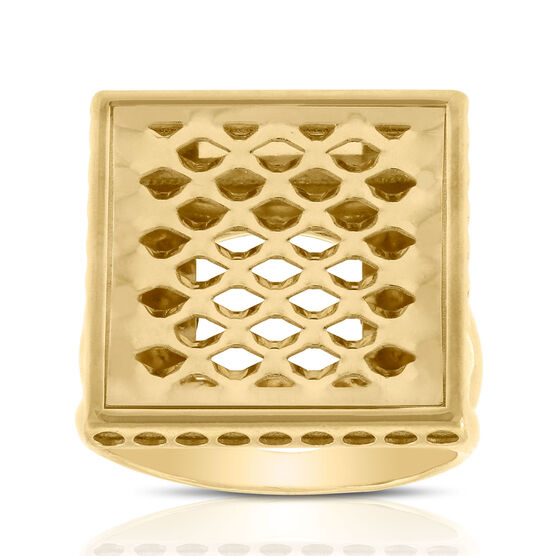Toscano Pierced Square Ring