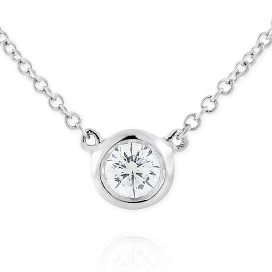Signature Forevermark Bezel Set Diamond Necklace 18K