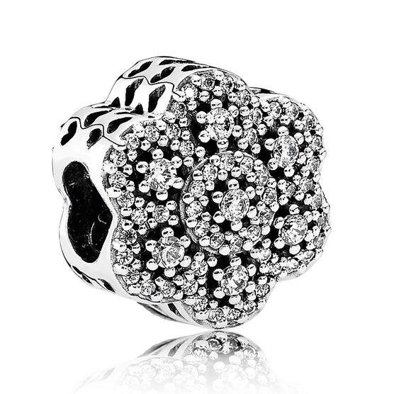 Pandora Crystalized Floral CZ Charm