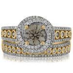 Brown Diamond Bridal Set 14K
