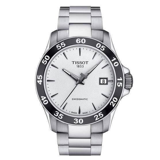 Tissot V8 Swissmatic Silver Dial Steel Automatic Watch, 42.5mm