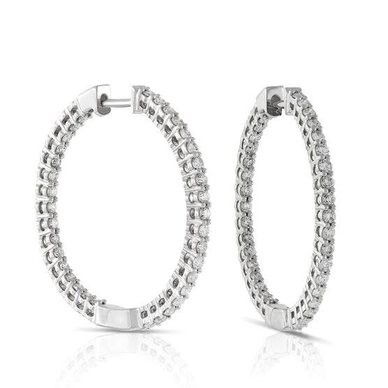 Diamond Hoop Earrings 14K, 1 ctw.