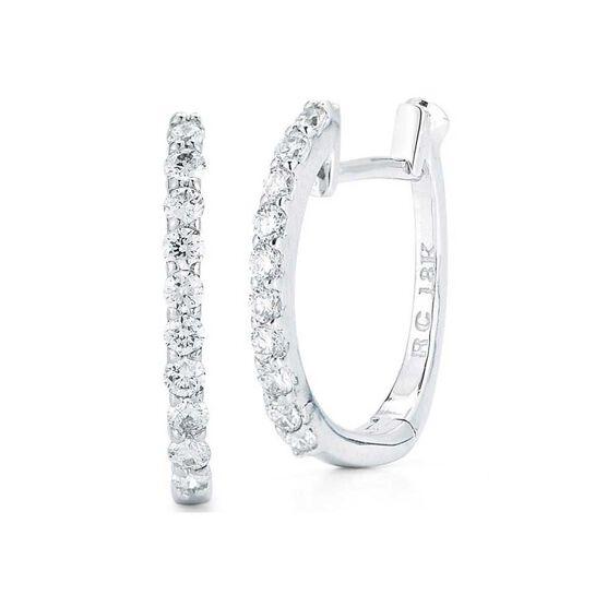 Roberto Coin Perfect Diamond Huggie Hoop Earrings 18K