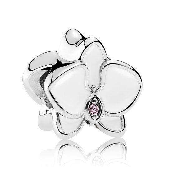PANDORA Enamel Orchid CZ Charm