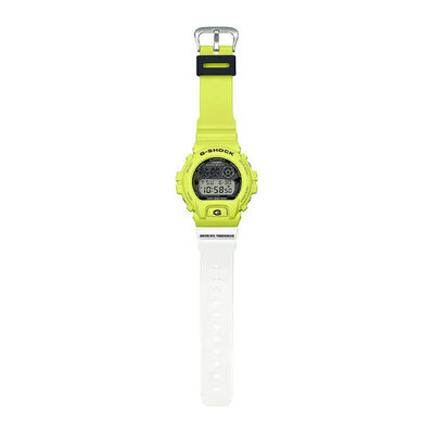 G-Shock Yellow & White Digital Watch, 53.2mm