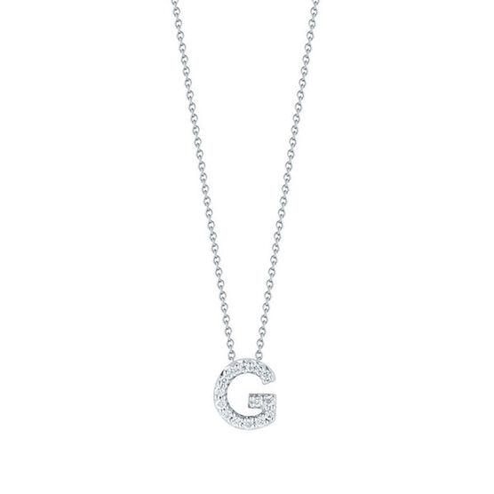 Roberto Coin Diamond Initial Pendant 18K Letter 'G'
