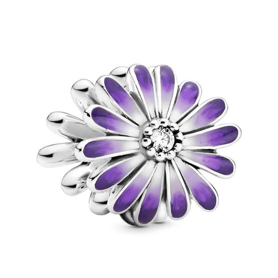 Pandora Purple Daisy Enamel & CZ Charm