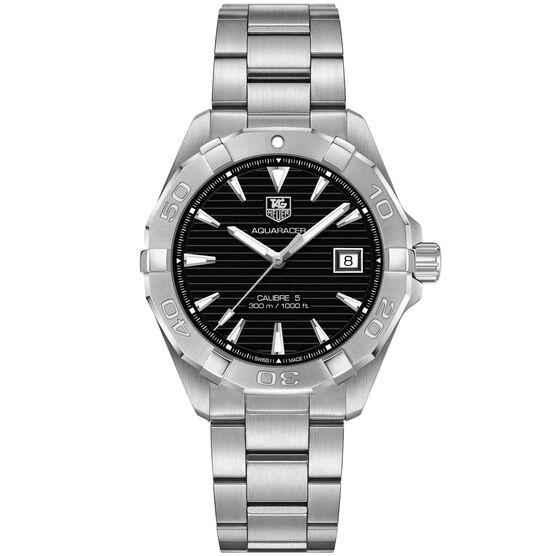 TAG Heuer Aquaracer Calibre 5 Automatic Mens Black Steel Watch