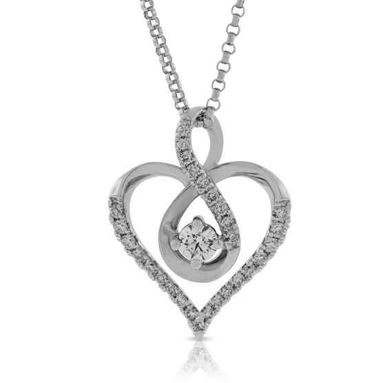 Ikuma Canadian Diamond Heart Pendant 14K