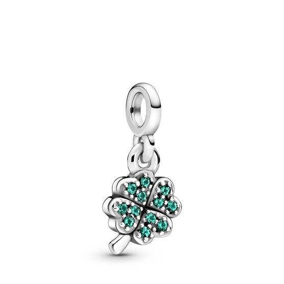 Pandora Me My Four-leaf Clover Crystal Dangle Charm