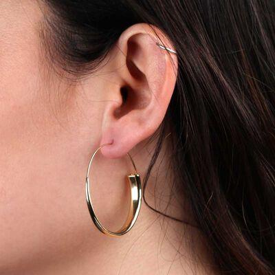 Large Endless Tube Hoop Earrings 14K
