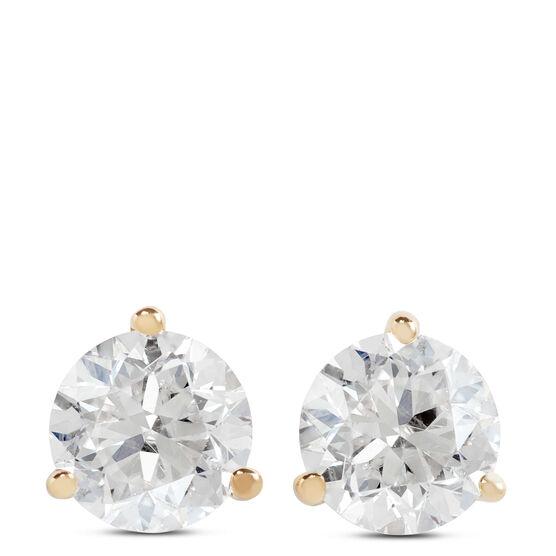 Diamond Solitaire Stud Earrings 14K, 3/4 ctw.