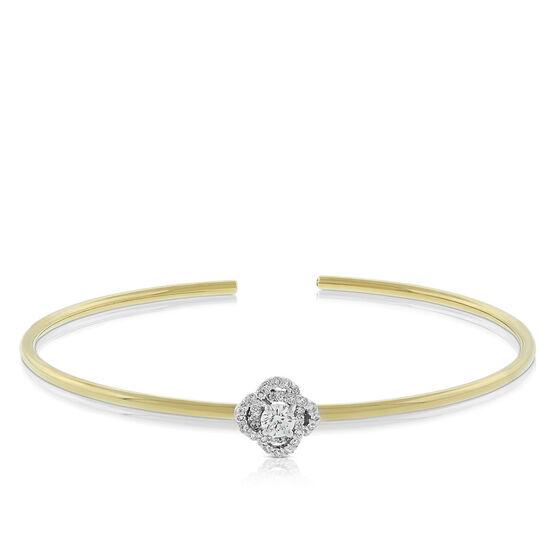 Signature Forevermark Diamond Flower Bangle 18K