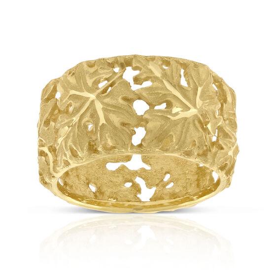 Toscano Leaf Band Ring 14K