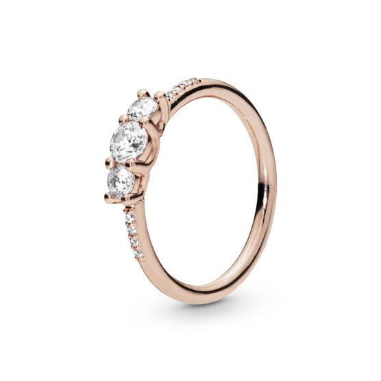 Pandora Clear 3-Stone CZ Ring