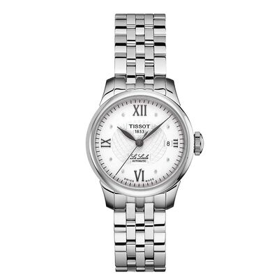Tissot Le Locle Automatic Lady Diamond Silver Dial Watch, 25.3mm