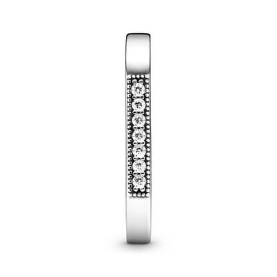 Pandora Sparkling CZ Bar Stacking Ring