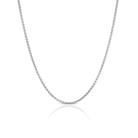 Round Wheat Chain in Silver, 18""
