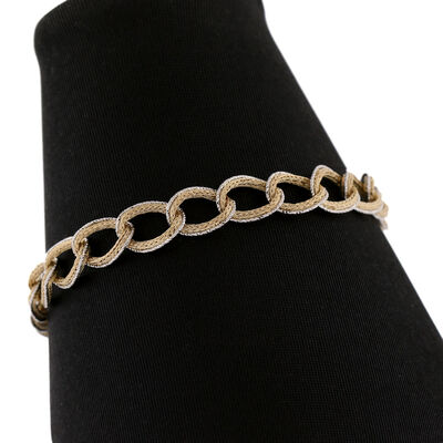 Toscano Diamond Cut Oval Bracelet 14K