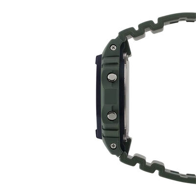G-Shock Green Strap Digital Rectangular Watch, 48.9mm