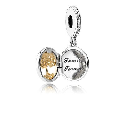 PANDORA Family Roots CZ Locket, Silver & 14K