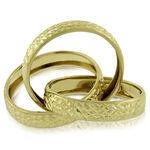 Toscano Triple Rolling Ring 14K