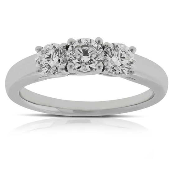 Diamond 3-Stone Band 14K, 1 ctw.