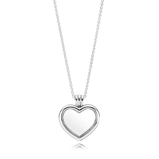 PANDORA Floating Heart Locket Necklace