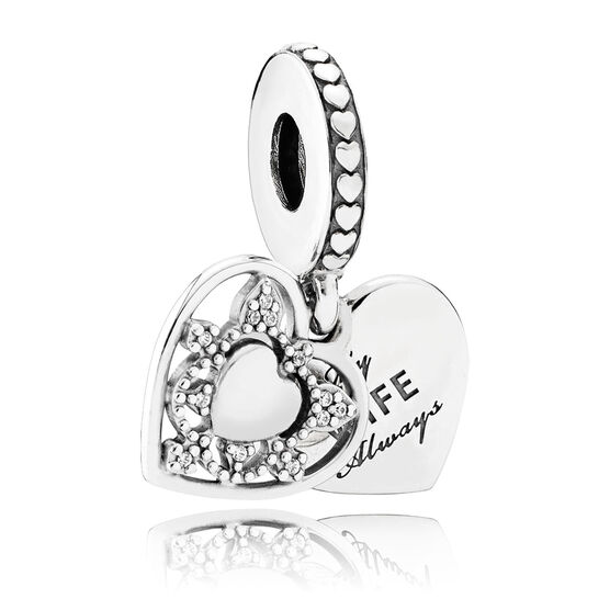 Pandora My Wife Always CZ Dangle Charm