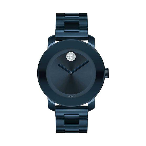 Movado Bold Blue Ion & Crystal Watch