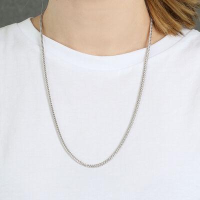"""Franco Chain in Silver, 24"""""""
