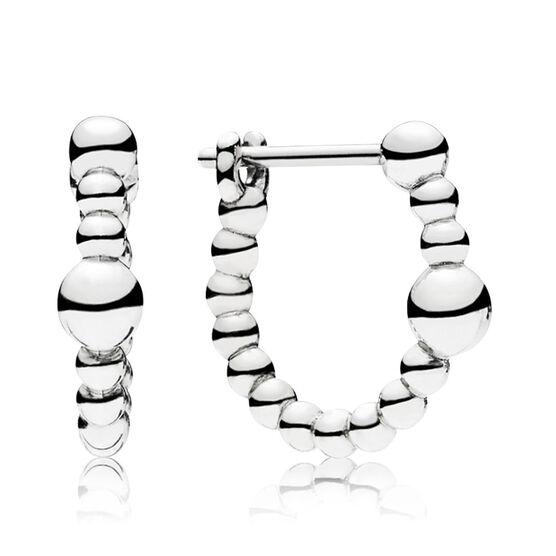 PANDORA String of Beads Hoop Earrings