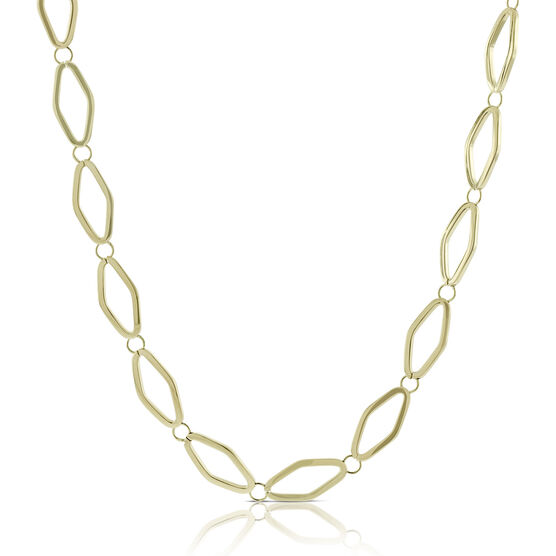 Toscano Open Link Necklace 18K