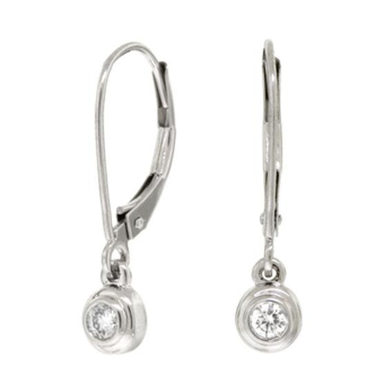 Bezel Set Diamond Earrings 14K, 1/10 ctw.