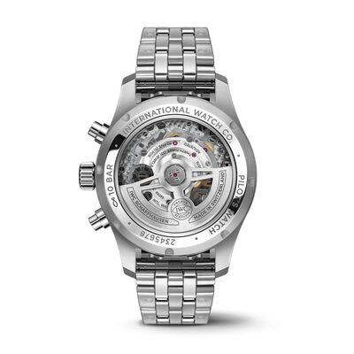 IWC Pilot's Watch 41 Green Dial Steel Chronograph, 41mm