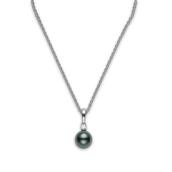 Mikimoto Black South Sea Cultured Pearl & Diamond Pendant, 9mm, A+, 18K